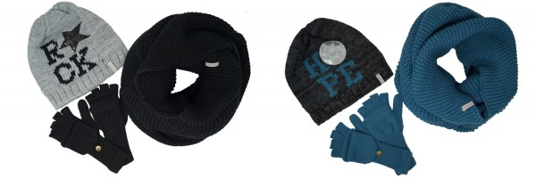 Soulfriend Damen Set Galtur, Mütze, Schal und Handschuhe,