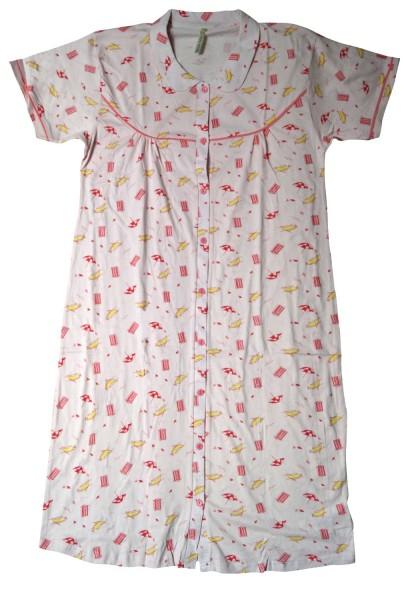 """Mary White Damen Nachthemd """"Mouette"""", rosa, Gr. L"""