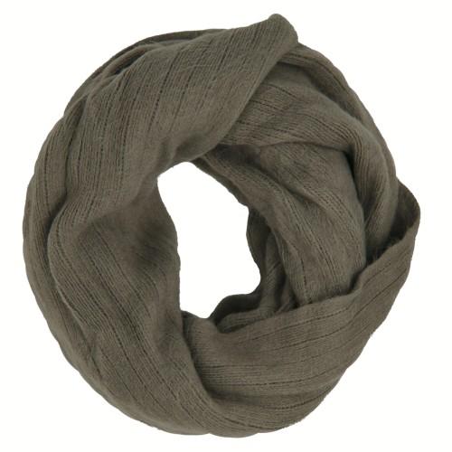 New Look Damen Loopschal, grau (warm grey), one size