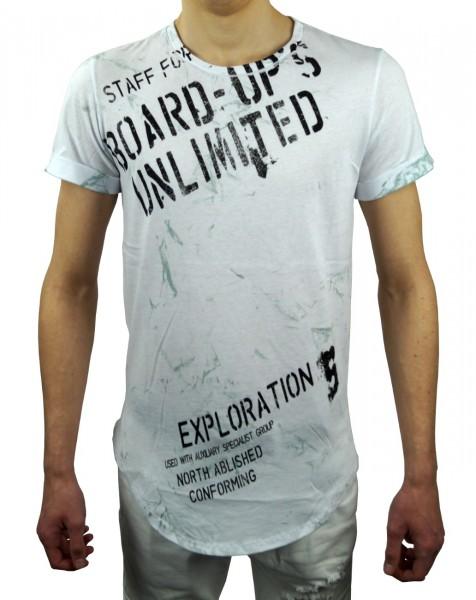 Männer Shirt, weiß und schwarz, Größen M, L, XL, XXL