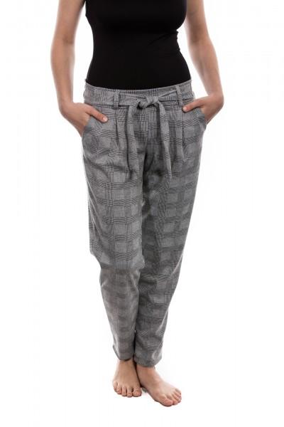 Hose in schwarz/weiß mit Vichy/Hahnentritt Muster, Größe S, M, L, XL