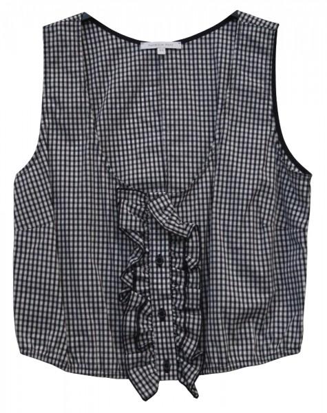 Patrizia Pepe Damen Top / Damen Bluse, kariert, schwarz/weiß, Gr. 38