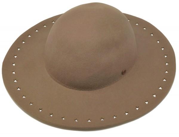 ESPRIT Damen Hut, Filzhut aus hochwertiger Wolle, beige, Gr. M