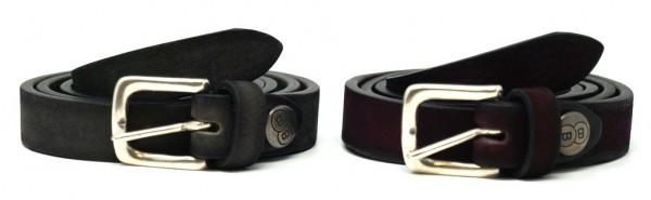 Buckles & Belts Unisex Echtleder Gürtel Torean, Breite 20mm,