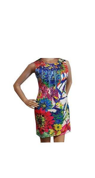 Kleid Minikleid Tunika mit Blumenmuster
