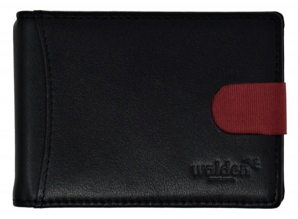 Walden Keditkartenetui mit Zuglasche und Geldklammer, schwarz