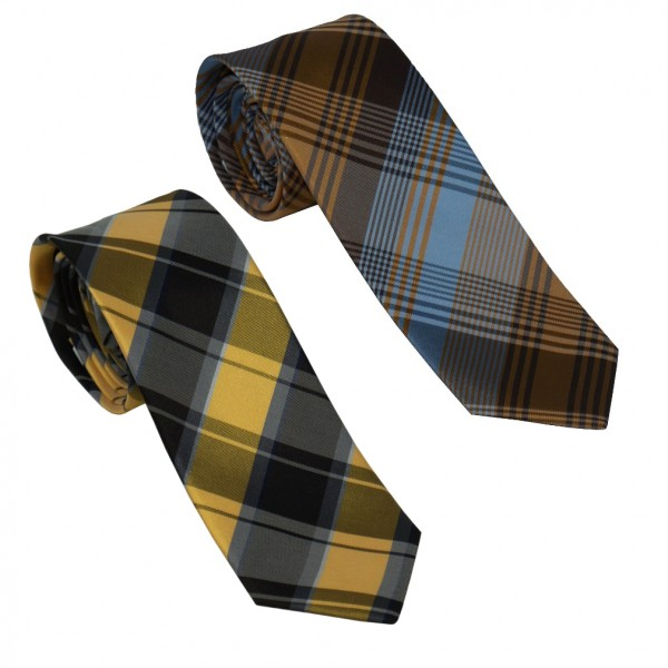 Monti Herren Seiden-Krawatte, kariert, Breite 6 cm,
