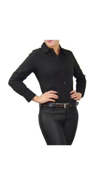 Bodybluse, Blusenbody, Bluse in schwarz und weiß, verschiedene Größen