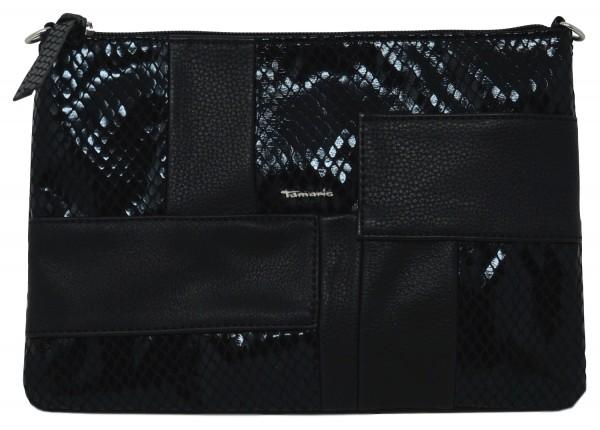 Tamaris Lone Clutch, Damen Handtasche, schwarz