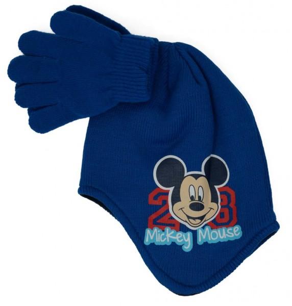 """Disney Kinder-Set Mütze und Handschuhe """"Mickey Mouse"""", verschiedene Farben und Größen"""