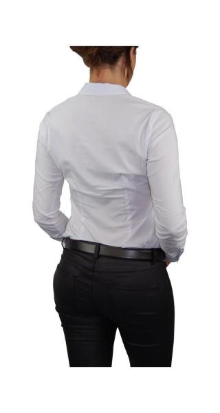 Bodybluse, Blusenbody, Bluse langarm in schwarz und weiß, verschiedene Größen