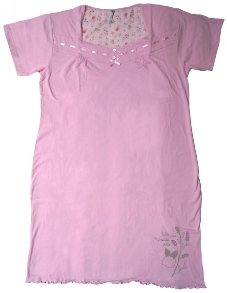"Mary White Damen Nachthemd ""Ines"", rosa, Gr. L"