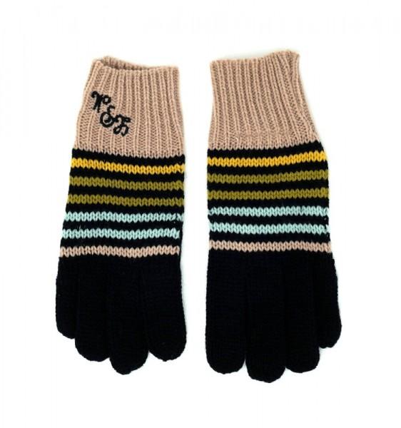 Little Marcel Mädchen Handschuhe GICA EF, schwarz/rosa (multi 323fn), Gr. 80