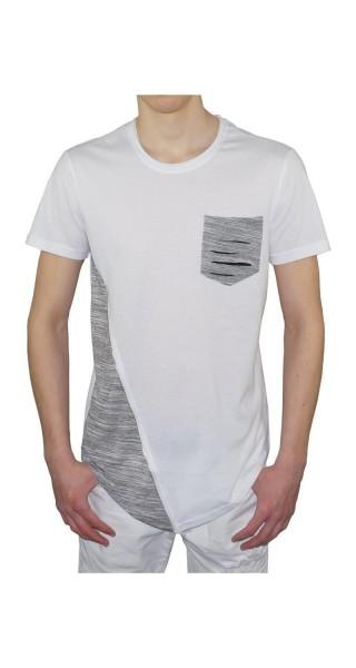 Herren Männer Shirt schwarz/grau weiß/grau in M, L, XL, XXL