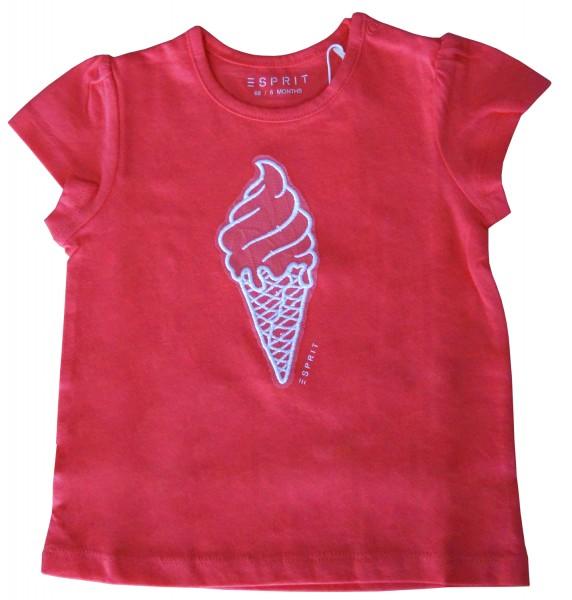 ESPRIT Mädchen T-Shirt mit Eis-Stickerei, rosa, Gr. 68