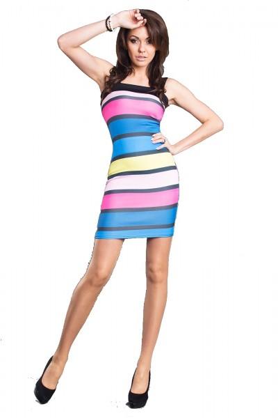 Figurbetontes Mini Kleid mehrfarbig, Größe M