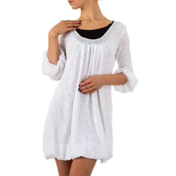Damen Tunika in weiß mit 3/4 Volant-Ärmel verschiedene Größen
