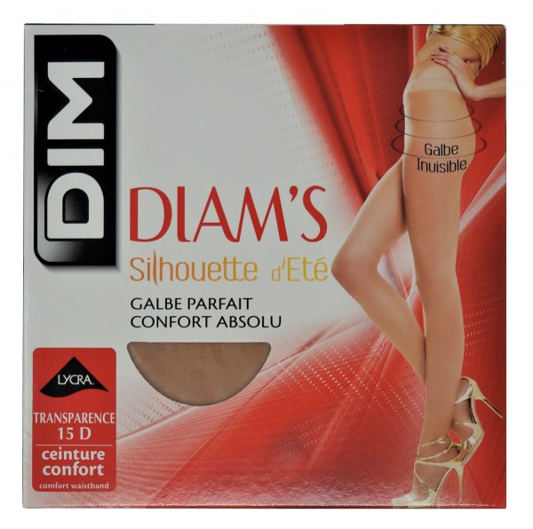 Dim Damen Strumpfhose Diam's Silhouette d'Été, 15 Den, 2er Pack