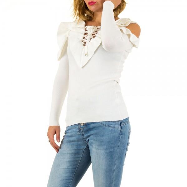 Damen Cold Shoulder Pullover One Size verschiedene Farben