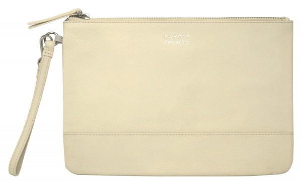 ESPRIT Leder Clutch, Damen Handtasche, off white (24,5x17x0,5cm)