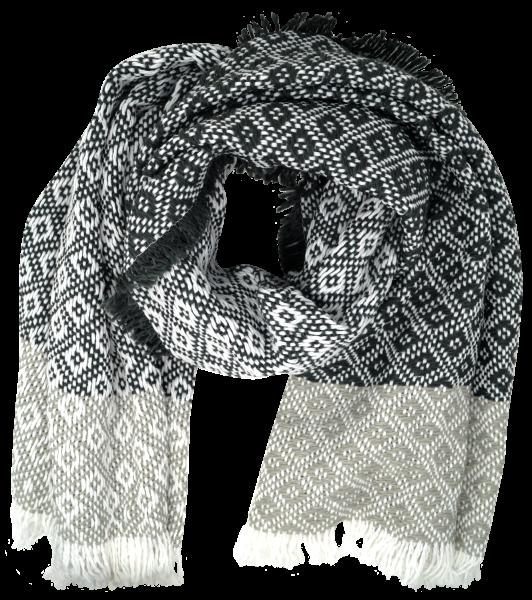Jennyfer Damen Schal mit Fransen, grau, one size