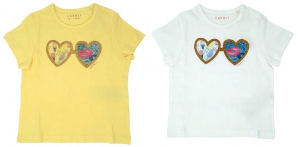 ESPRIT Mädchen T-Shirt mit Herz-Print