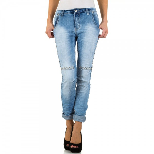 Damen Jeans Used Look mit Nieten