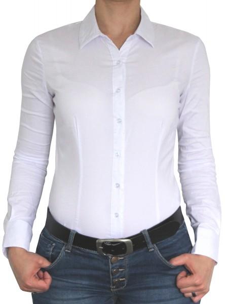 Bodybluse, Blusenbody, Bluse langarm in weiß, rosa, dunkelblau, verschiedene Größen