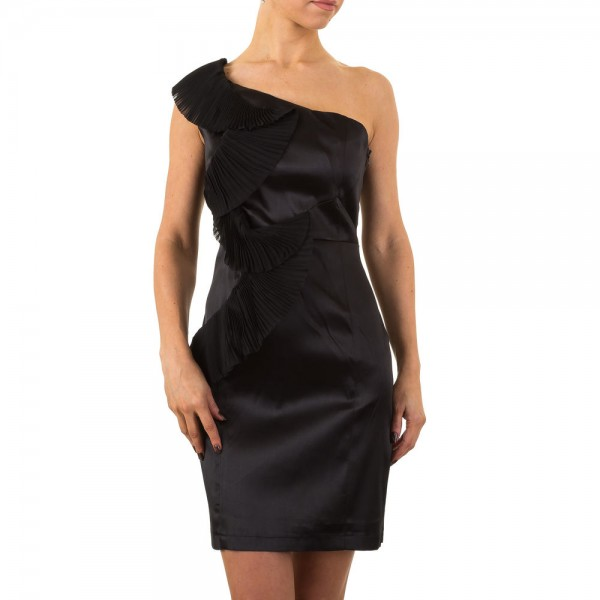 Damen Kleid in schwarz mit Volant, Größe 42