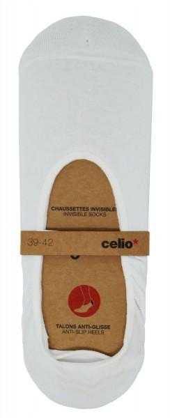 3er Pack Celio Herren Sneaker Socken Dinvisible, weiß, 39/42