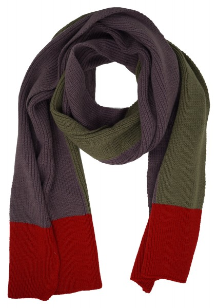 United Colors of Benetton Damen Schal, Strickschal, lila-rot-taupe, one size