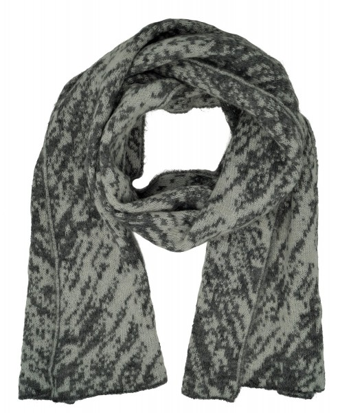 United Colors of Benetton Damen Schal, Blur Printed Wool Scarf, One Size, grau