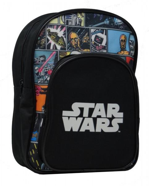 Star Wars Kinder Rucksack mit Classic Comic Motiv, schwarz, 30x23x9cm