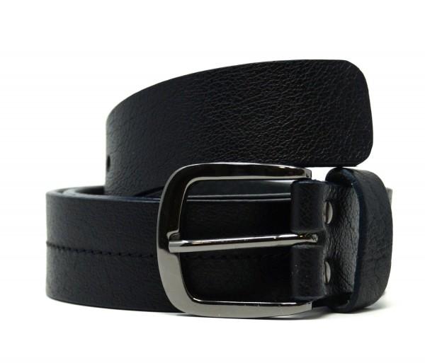 New Look Leder Gürtel Stitch Detail, schwarz (black 01), Gr. 90, 81-94cm