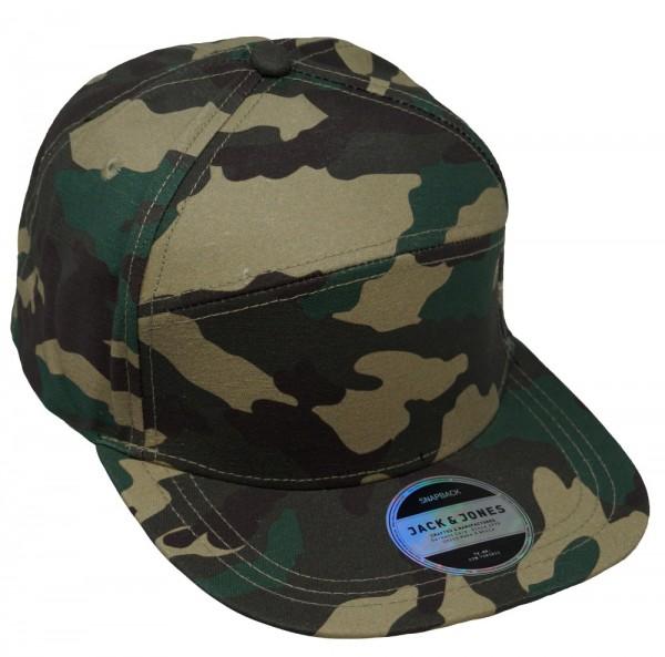 JACK & JONES Herren Baseballcap JJCAMO Cut, Snapback, one size, camouflage